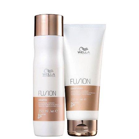 Kit fusion Wella - shampoo 250ml e condicionador 200ml