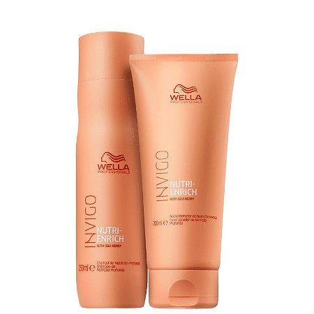 Kit Nutri Enrich Wella - shampoo 250ml e condicionador 200ml