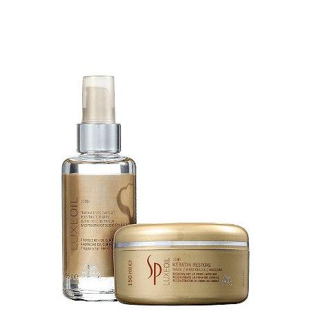 Kit SP Luxe Oil Wella - Mascara 150ml e finalizador 195ml