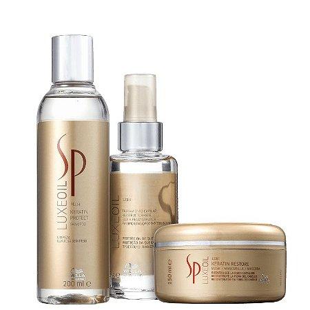 Kit SP Luxe Oil Wella - Shampoo 250ml mascara 150ml e finalizador 95ml