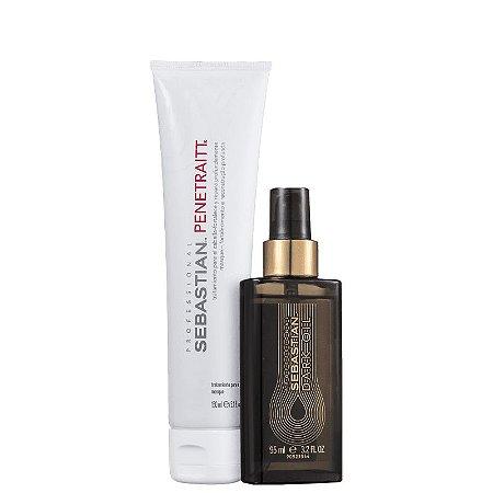 Kit Penetraitt Dark Oil Sebastian - mascara 150ml e finalizador 95ml