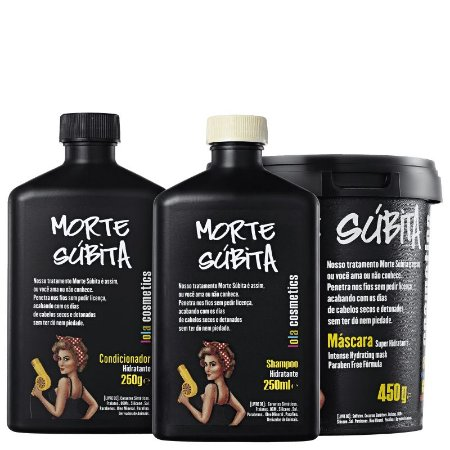 Kit Morte Subita - Shampoo, condicionador 250ml  e mascara 450ml