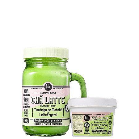 Kit Cha Latte  Matcha - Shampoo 100ml e mascara 350ml