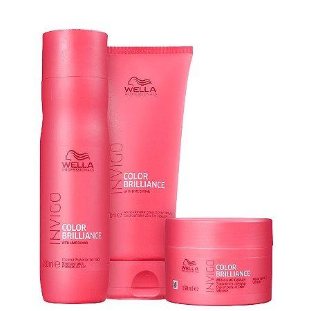 Kit Color Brilliance Wella - Shampoo 250ml Condicionador 200ml e Mascara 150ml