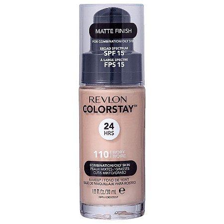 Base liquida ColorStay Revlon - Cor Ivory 110  - 30ml