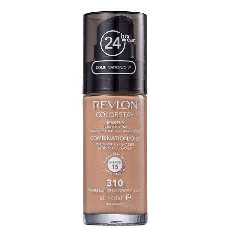 Base liquida colorstay Revlon - Cor Warm Golden 310 - 30ml