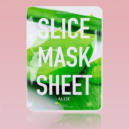 Aloe Slice Mask Sheet - Mascara facial de aloe vera em fatias (12 fatias)