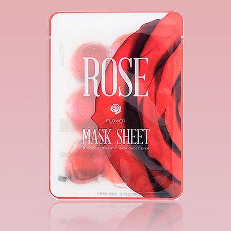 Rose Slice Mask Sheet - Mascara facial de morango em fatias (12 fatias)
