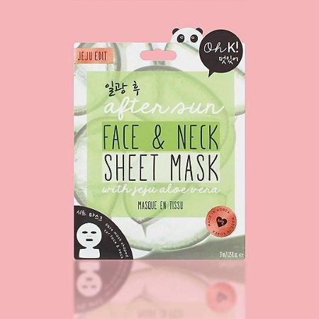 OH K! After Sun Face & Neck Sheet Mask - Mascara facial pós sol