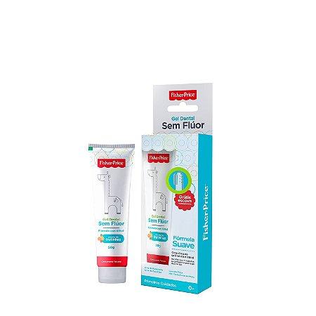 Gel dental bebe sem fluor Fisher Price - 50g  (Acompanha escova massageadora)