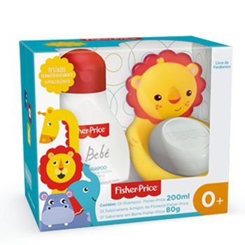 Kit amigos da floresta Fisher Price - Shampoo 200ml e Sabonete em barra 80g