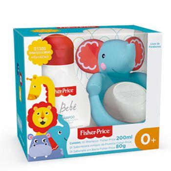 Kit amigos da floresta bebe Fisher Price - Shampoo 200ml e Sabonete em barra 80g