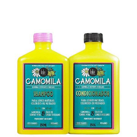 Kit Shampoo e Condicionador Camomila Lola - Shampoo 250ml e Condicionador 250ml