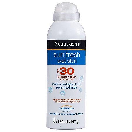 Sun Fresh Wet Skin FPS 30 Neutrogena - Protetor Solar em Spray 180ml