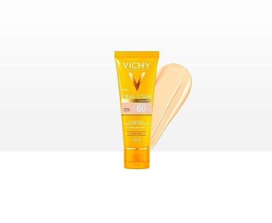 Ideal Solei Clarify FPS 60 Vichy - Protetor Solar Facial cor Extra Clara 40g