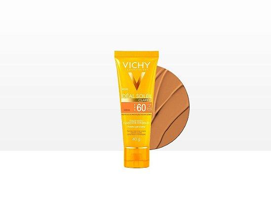 Ideal Solei Clarify FPS 60 Vichy - Protetor Solar Facial cor Media 40g