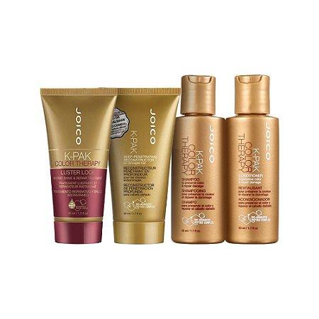 Kit K-Pak Color Therapy Deep Lock Joico - Shampoo, Condicionador, Mascara e Reconstrutor 50ml