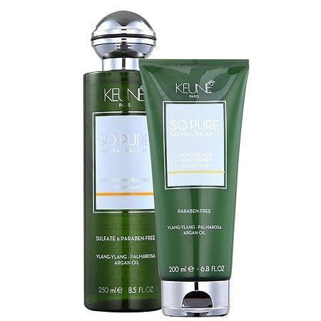 Kit So Pure Moisturizing Keune - Shampoo 250ml e Condicionador 200ml