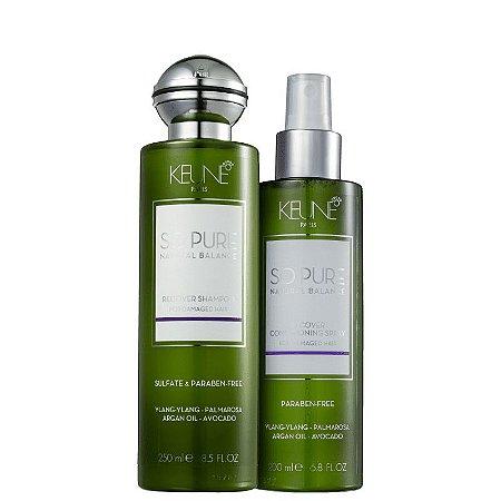 Kit So Pure Recover Keune - Shampoo 250ml e Condicionador Spray 200ml