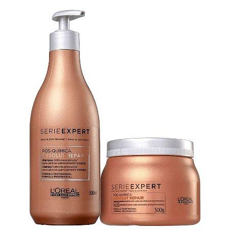Kit Absolut Repair Pos Quimica - Shampoo 500ml e Mascara 500g