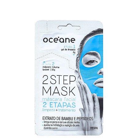 Mascara Facial 2 steps Oceane - Extrato de bambu e peptídeos  - 13g