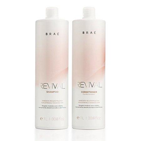 Kit Revival Brae - Shampoo 1L e Condicionador 1L
