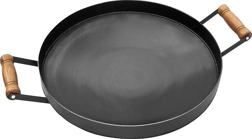 Disco de Ferro 43 cm com Borda 4 cm Fundo Cônico