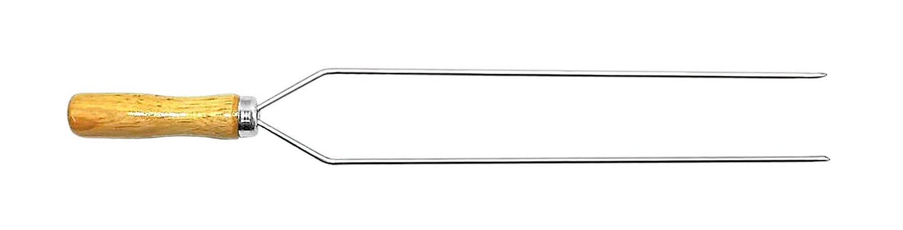 Espetinho Duplo Aço Cr 46cm x 3mm (cabo 9,5 cm) -