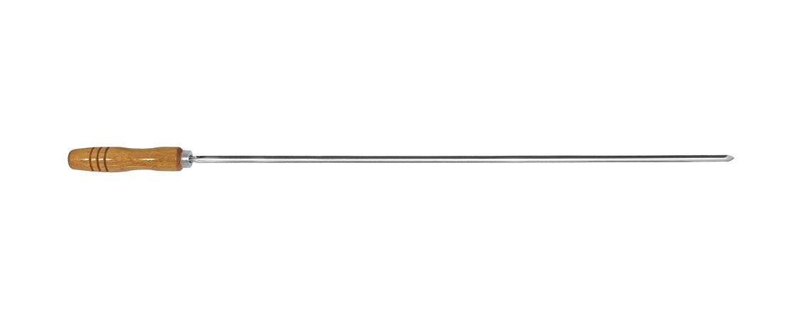 Espeto Inox Coração 085cm x 1,2mm (cabo 15 cm) -