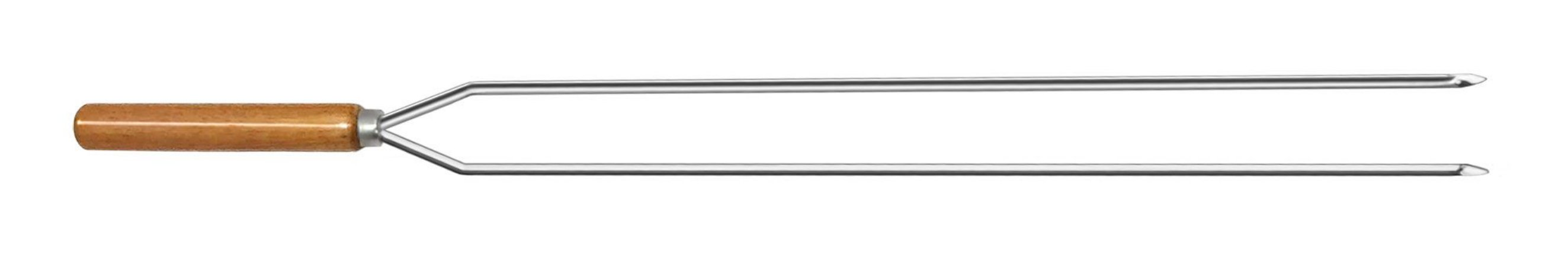 Espeto Inox Cupim Duplo 090 cm x 1,5 mm