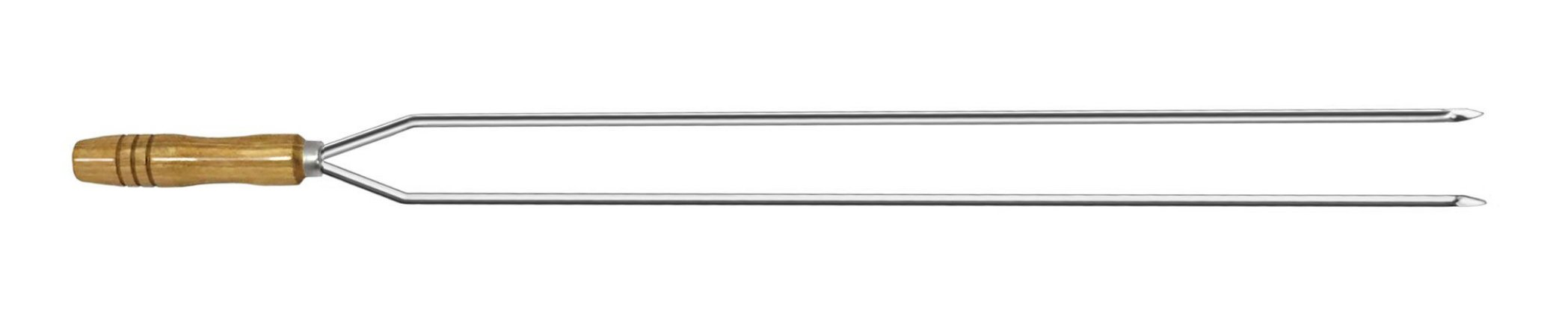 Espeto Inox Cupim Duplo 090 cm x 2 mm