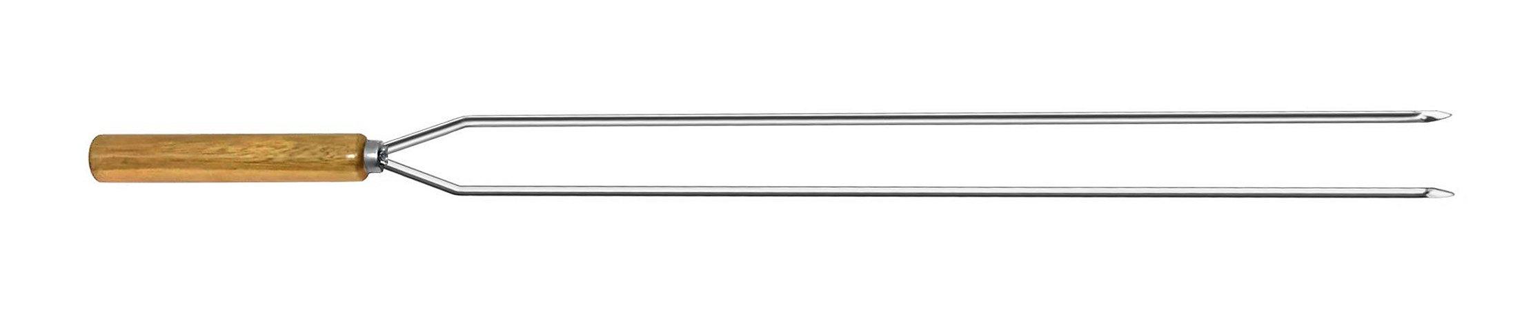 Espeto Inox Cupim Duplo 115 cm x 2 mm