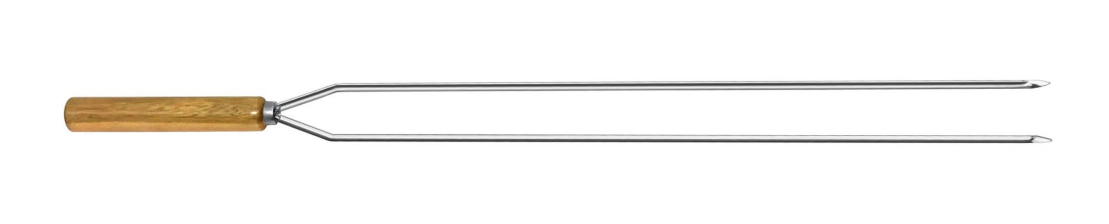Espeto Inox Cupim Duplo 125 cm x 2 mm