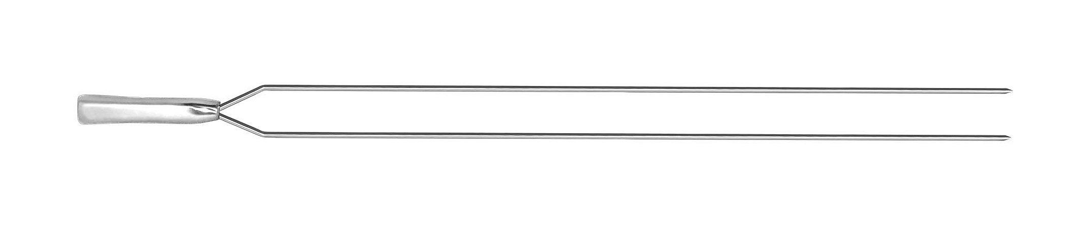 Espeto Inox Duplo Cabo Fundido 104cm x 6mm  (cabo 15cm)  -