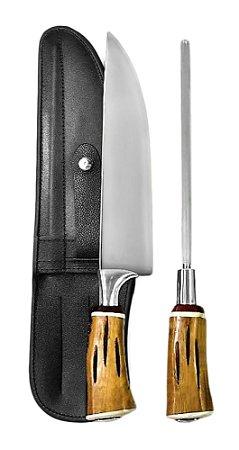 Faca Inox Exclusive 2310 com Chaira e Bainha 10 polegadas