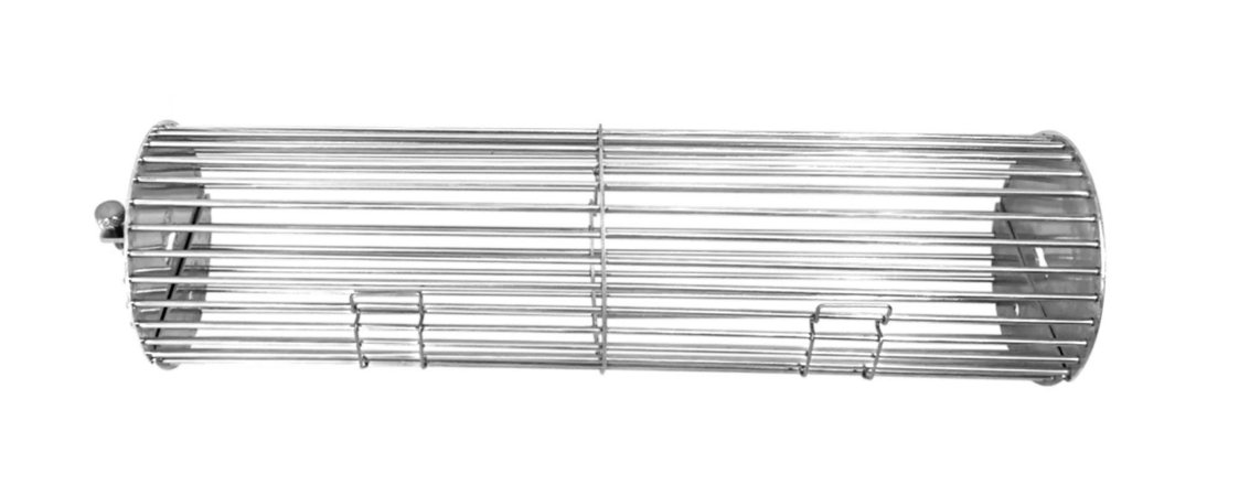Grelha Inox Cilíndrica Ø 100x380 mm Sem Divisória - sem espeto
