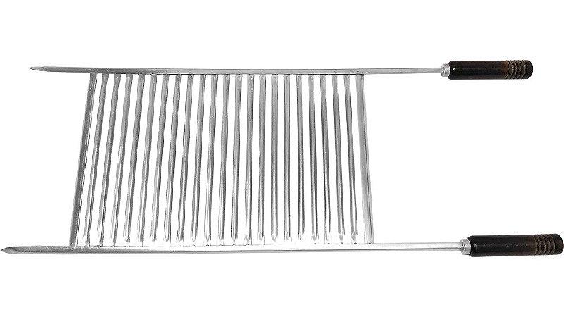 Grelha Inox Multiuso com Bordas 85cm 46,5x31x1,0cm -