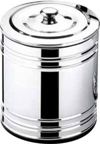 Lixeira Inox Polida Saco 10 lts Ø 20x23cm   -