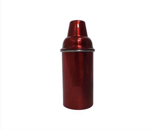 Porta Litro Alumínio Duplo Vermelho