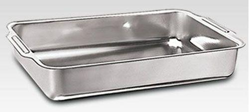 Assadeira de Alumínio Retangular Alta com Aba nº 04