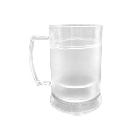 Caneca Injetada Transparente com Gel Cristal 340 ml