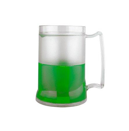 Caneca Injetada Transp/Gel Verde 465 ml