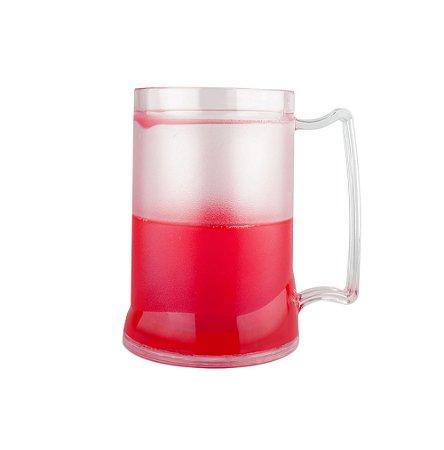 Caneca Injetada Transp/Gel Vermelho 465 ml