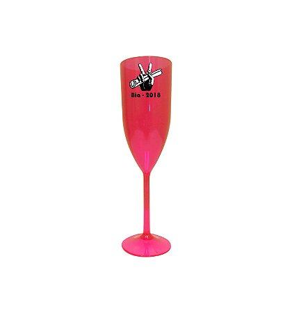 Taça PS para Champagne 180 ml Vermelho Neon