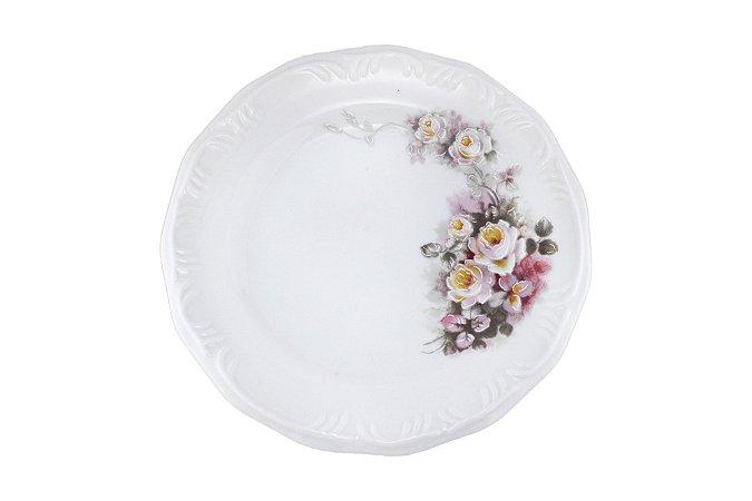 Prato de Porcelana Sobremesa 19cm