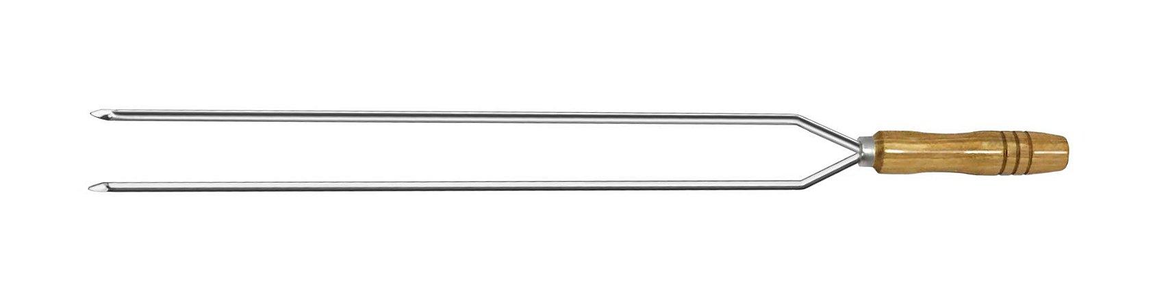 Espeto Inox Duplo 075cm x 1,5mm