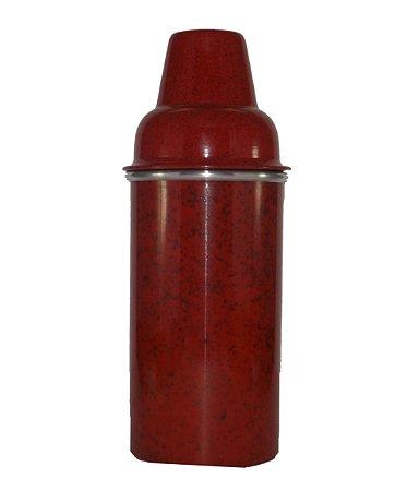 Porta Garrafa em Alumínio Vermelho Mesclado