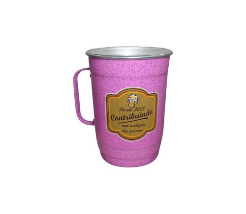 Caneca 110-D 1000ml Rosa Mesclado