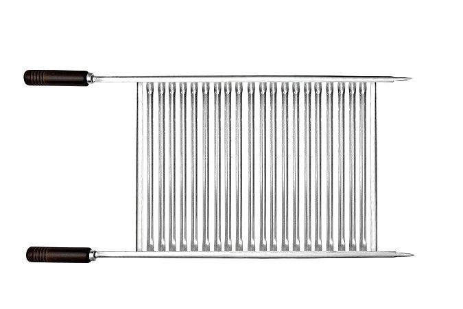 Grelha Inox Multiuso com Bordas 85 cm 51,5x38x1,0 cm