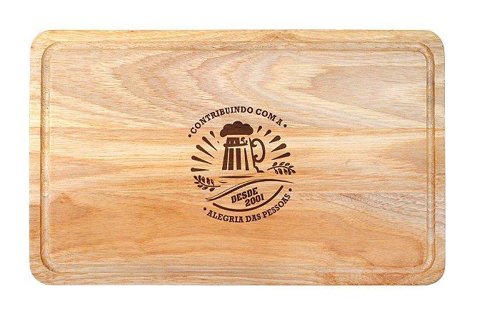 Tábua Madeira Prática 40x24x1,4cm